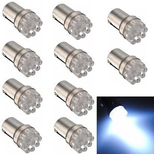 10X 1156 9 LED White P21W BA15S 382 Turn Brake Tail Indicator Car Light Bulb 12V