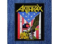 Judge Dredd Woven Sew On Patch 8cm x 10cm Anthrax
