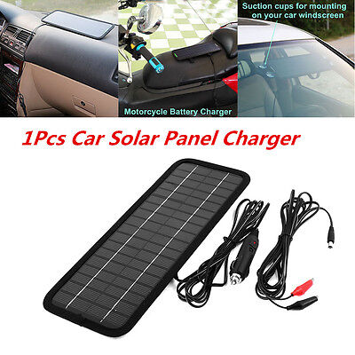 Transportable 12V 4.5W Car Solar Panel Battery Maintainer Charger Auto Outdoor Backup