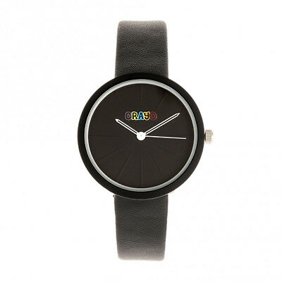 Crayo Blade Black Leatherette Strap Unisex Watch CRACR5402 Black Leatherette Strap Watch