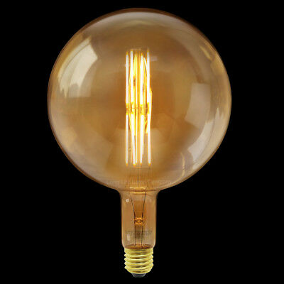 Retro Vintage Globe Cage Light Bulb G200 OVERSIZE LED Industrial Edison XL...