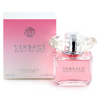 VERSACE Bright Crystal 90ml EDT For Her Spray Authentic BRAND NEW Free Delivery