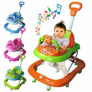 First Steps Baby Walker Push Along Bouncer Activity Music Ride On Car Melody UK