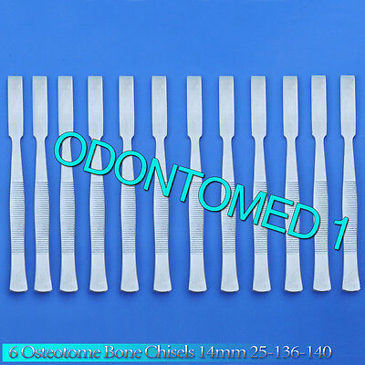 12 Osteotome Bone Chisels 14mm Surgical Orthopedic Instruments 25-136-140
