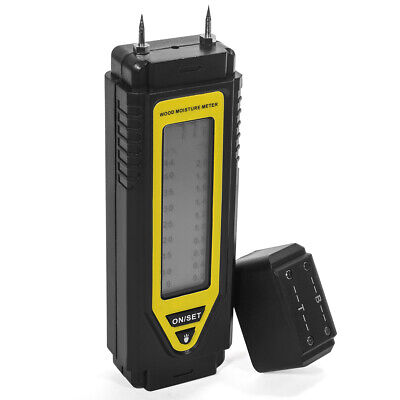 2-pin Moisture Meter Detects Bargraph Readout Moisture Detector W Belt Clip