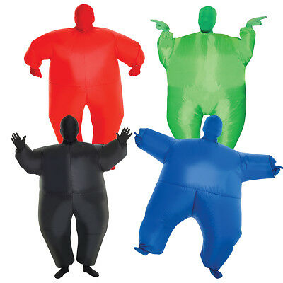 Kids Inflatable Megamorph Costume Blow Up Fat Suit Air Sumo By - Fat Halloween Girl