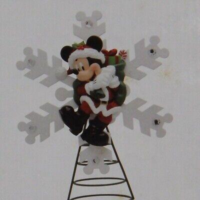 AUTHENTIC DISNEY PARKS SANTA MICKEY SNOWFLAKE CHRISTMAS TREE TOPPER