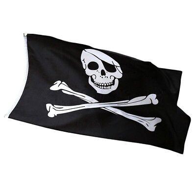 Pirate Flag Jolly Roger Skull and Crossbones 5ft x 3ft ideal for Climbing frame