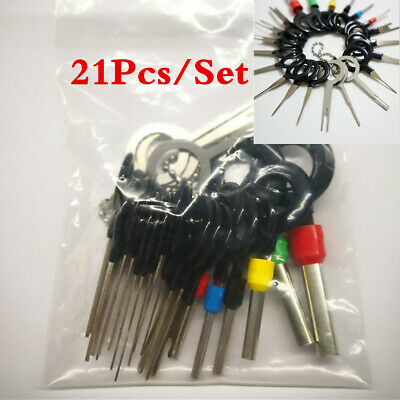 21Pcs Wiring Connector Pin Extractor Car Terminal Pin Removal Puller Hand Tools