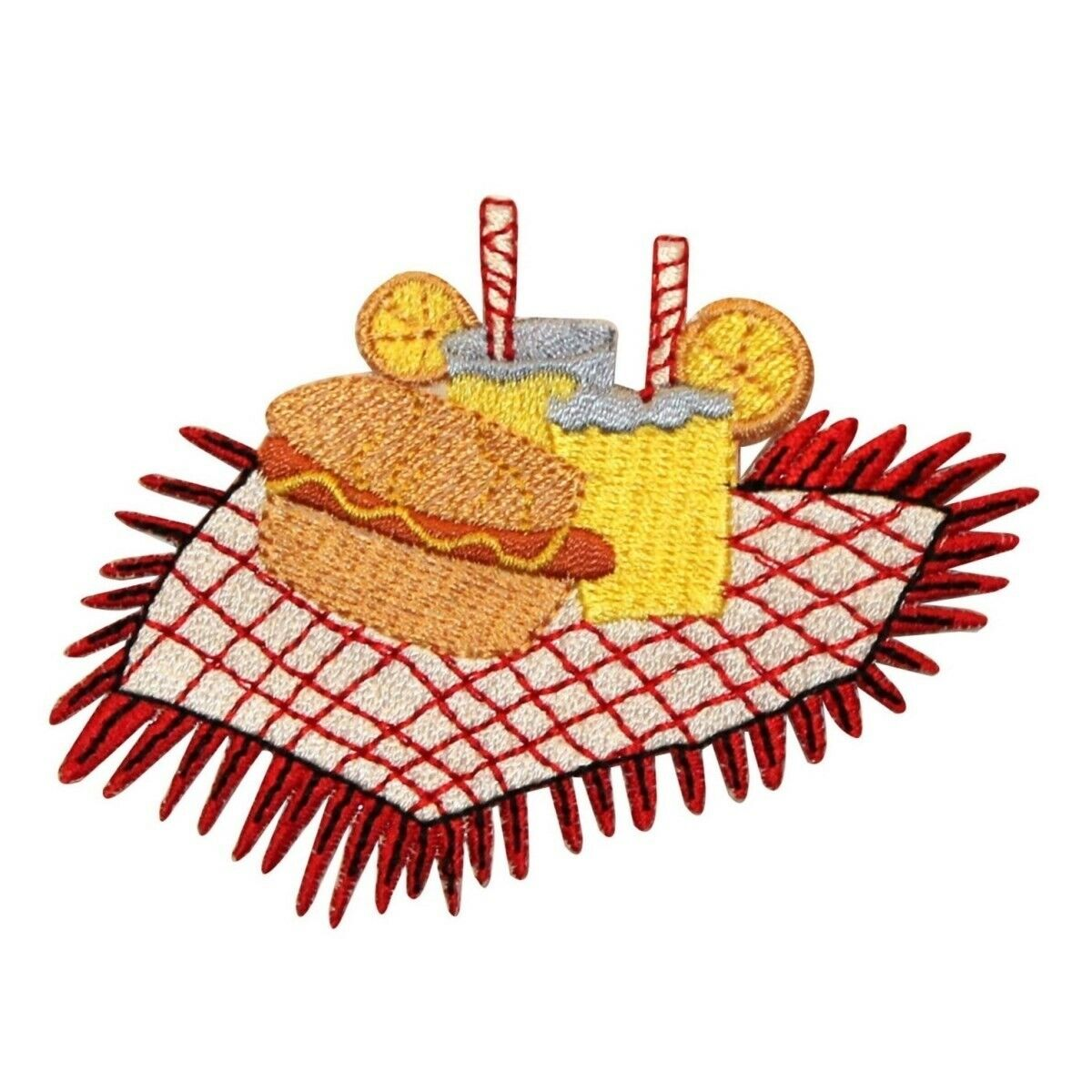 ID 1241 Picnic Blanket And Food Patch Summer Snack Embroider