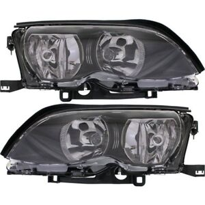 Halogen Headlight Set For 2002-2005 BMW 325i Left & Right w/ Bulb(s) Pair