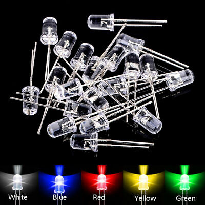 100pcs 5mm Led Diodes Assortment Kit Water Clearredgreenblueyellowwhite