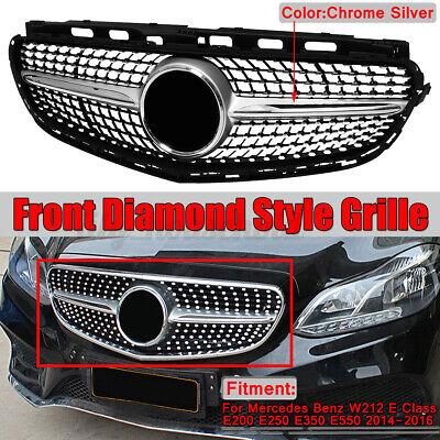Kühlergrill Frontgrill Diamantgrill Chrom für Benz W212 E200 E250 E350  !