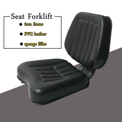 Tractor Seat Universal Forklift Seat High Back Black With Trapezoid Backrest