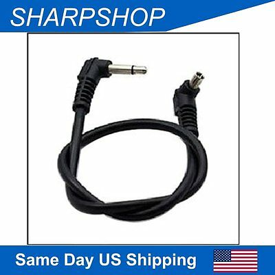 12''3.5mm to Male Led Flash Plug Line PC Sync Cable for Trigger Camera& Cords