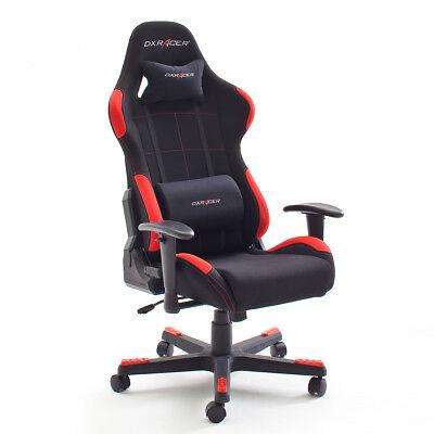 Schreibtischstuhl  Game Chair DX RACER 1 Bürostuhl in schwarz und rot