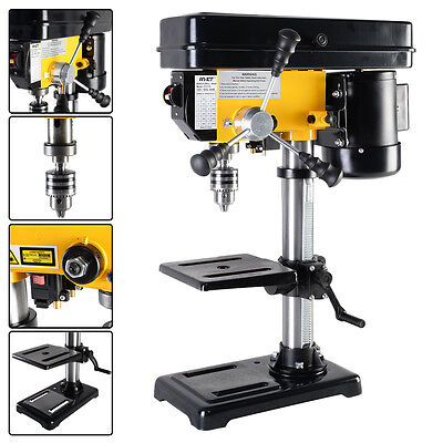 """Electric 450W 10"""" 12 Speed 300-2900 RPM Drill Press Bench w/ Laser & LED Light"""