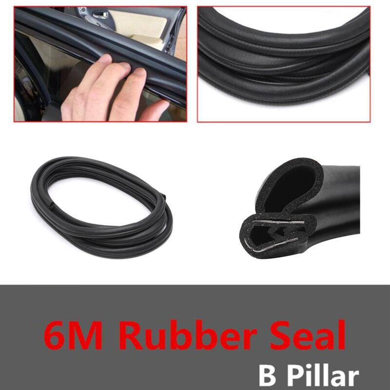 6M Seal Sealing Strips B -Type Door Pillar Noise Insulation Anti-Dust Soundproof
