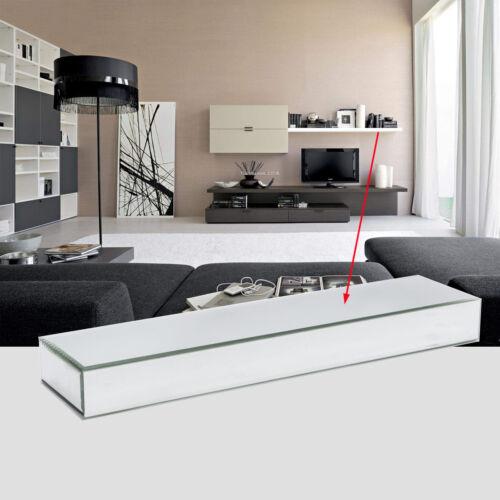 60cm Length Bevelled Mirrored Floating Shelf Mirror Wall Display Uk Stock