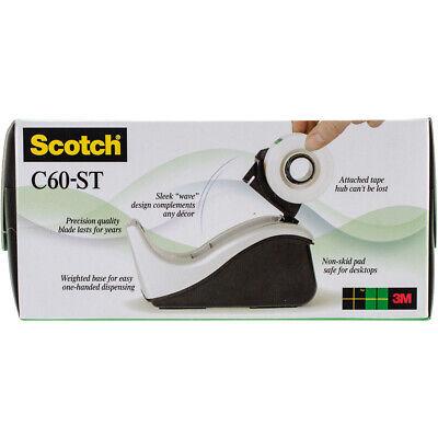 Scotch Value Desktop Tape Dispenser Attached 1 Core Blacksilver