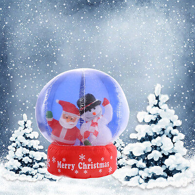 Christmas Lawn Inflatables   4ft Airblown Inflatable Santa Christmas Gemmy  Snowglobe Decor Light Lawn Outdoor