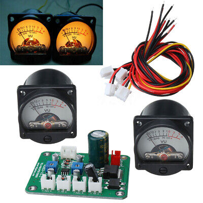 2pcs 10-12v Analog Vu Panel Meter 500ua Mayitr Cable Board Module Driver Durable