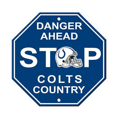 NFL Indianapolis Colts Stop Sign Danger Ahead Home Room Bar Decor 12
