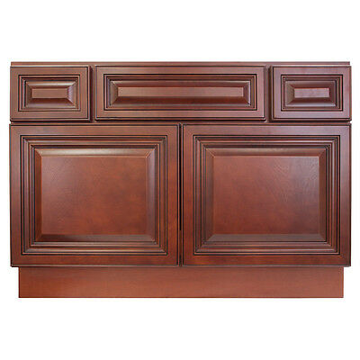 """42"""" Bathroom Vanity Sink Base Cabinet Maple Cherryville by LessCare"""
