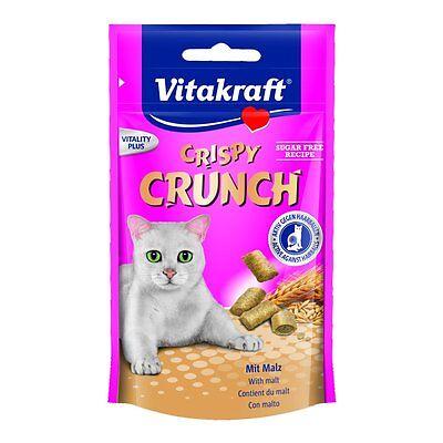Vitakraft Katzensnack Crispy Crunch mit Malz - 8 x 60g - Snack Belohnung Katze