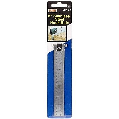 Quint Measuring Systems Stainless Steel Hook Rule Ruler 6 Inch Hr-06