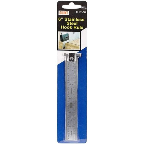 """Quint Measuring Systems Stainless Steel Hook Rule, Ruler 6"""" inch #HR-06"""