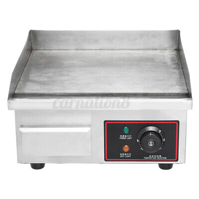 110v 1500w Electric Griddle Flat Top Grill 14 Hot Plate Bbq Countertop Hom