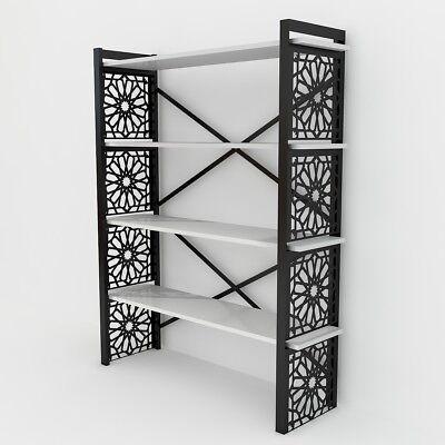 Metall Bücherregal Schrank (Bücherregal Weiß Bücherschrank Metall Raumteiler Holz Regal Wandregal Standregal)
