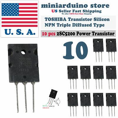 10pcs 2sc5200 Power Toshiba Transistor Silicon Npn Triple Diffused Type