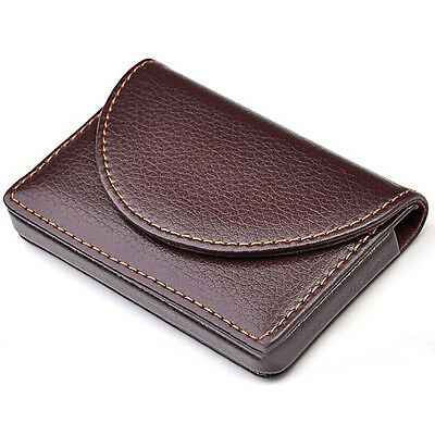 Brown Pocket Leather Wallet Luxury Menwomen Business Name Card Holder Case Bag