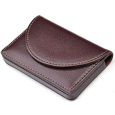 Brown Pocket Leather Wallet Luxury Menwomen Business Name Card Holder Case Bag