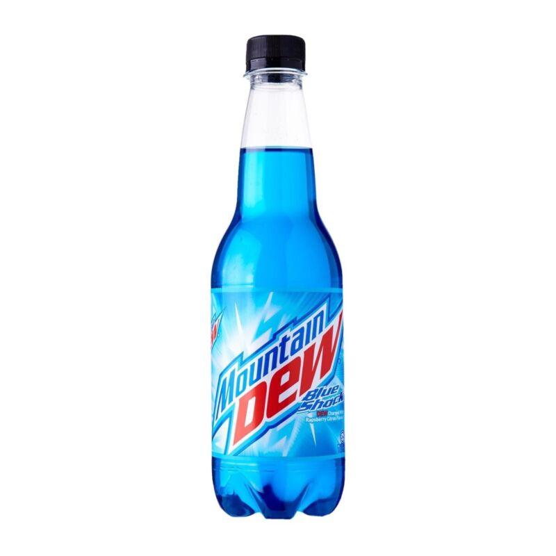 Mountain Dew Blue shock RARE bottled (NEW 6 Pack)