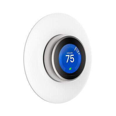 White Wall Plate Cover For Nest Learning Thermostat 3rd 2nd 1st Generation