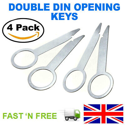 4 PCS CAR RADIO STEREO CD RELEASE REMOVAL TOOLS KEY FOR VW/AUDI/MERCEDES/PORSCHE
