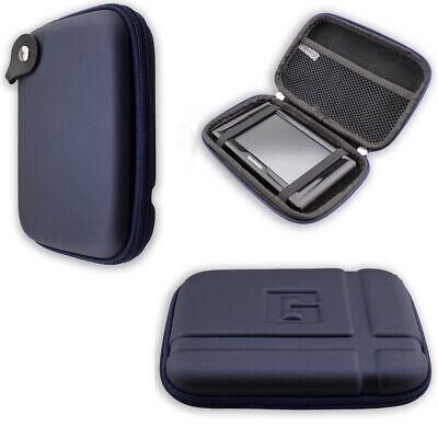 caseroxx GPS-Case for Garmin zümo© 396 LMT-S in blue made of faux leather