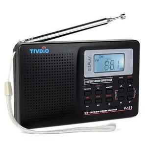 Mini Weltempfänger Radio TIVDIO VT-111 tragbar Digital DSP FM Stereo FM/ MW/ SW