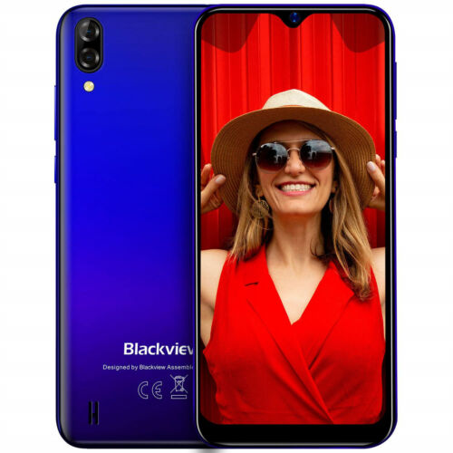 Blackview A60 Handy Android 8.1 Dual SIM Smartphone Ohne Vertrag 4080mAh Blau