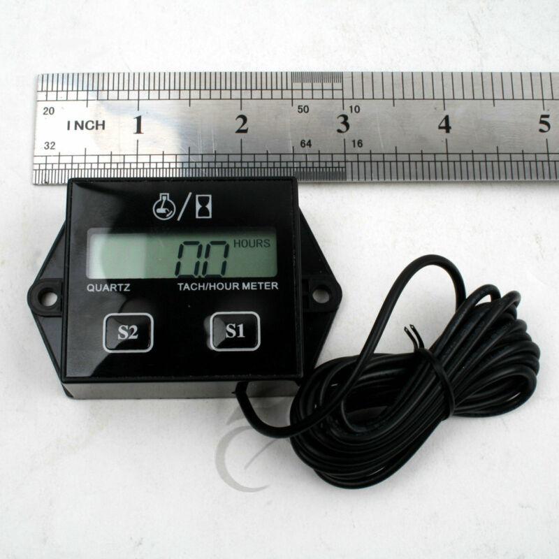 New Digital Tach Hour Meter Tachometer Gauge For 2 Stroke /& 4 stroke Gas Engines