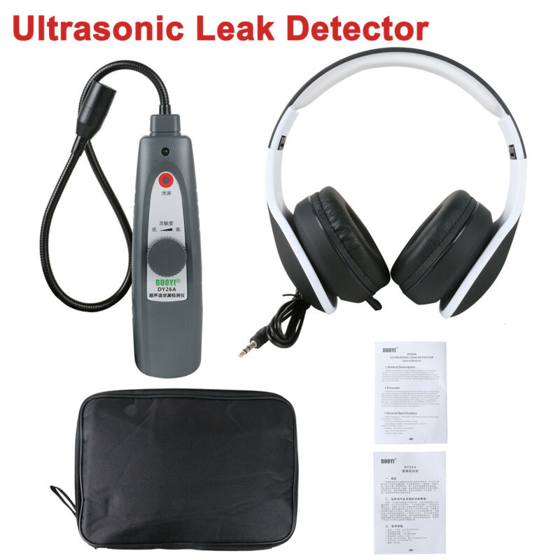 Ultrasonic Leak Detector Air Water Fluid Pressure Vaccum System Leakage Tester