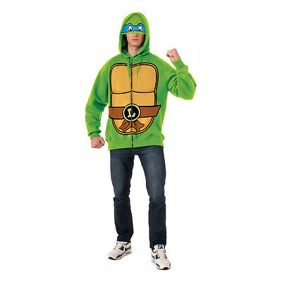 Teenage Mutant Ninja Turtles Leonardo Adult Costume Hoodie Sweatshirt - Ninja Turtle Hoodie Kostüm