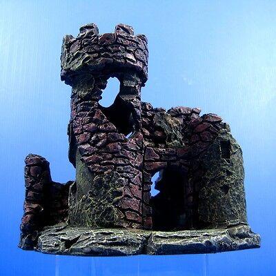 Castle Aquarium Decorations - Fish Tank Resin Fort Bunker Tropical Decor