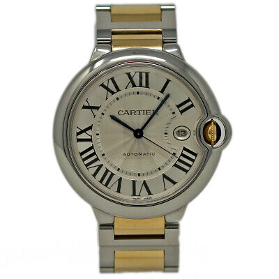 Cartier Ballon Bleu 42mm W2BB0022 Stainless Steel Gold Box/Paper/Warranty #406-1