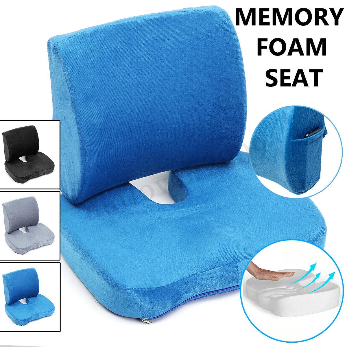 Lumbar Support Pillow Seat Chair Back Cushion Memory Foam Er