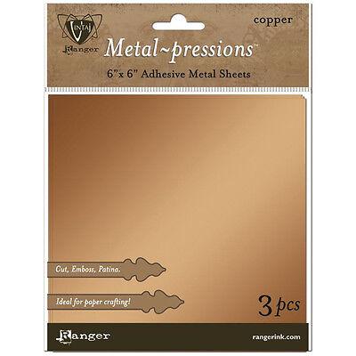"Ranger Vintaj Copper Foil Sheets 3/Pkg-6""X6"""