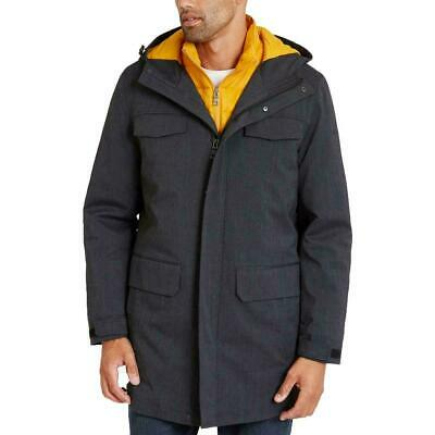 Nautica Men Jacket Gray Yellow Size XL 3-In-1 System Hooded Parka $280 192